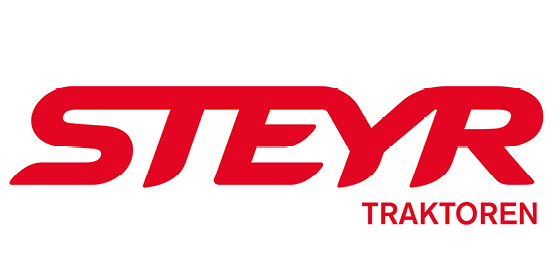 Logo STEYR Traktoren der CNH Industrial, im Söllinger Produkt-Programm