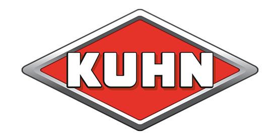 Logo KUHN Landmaschinen, Baumaschinen, Ladetechnik, Pflüge Bodenbearbeitung, Saat, Mulcher, im Söllinger Produkt-Programm