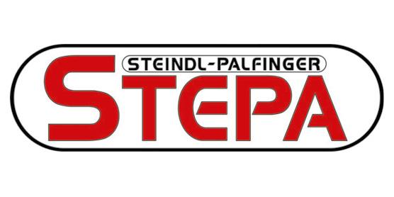 Logo STEPA, Steindl-Palfinger, Spezialist für Krane in Landwirtschaft und Forstwirtschaft, im Söllinger Produkt-Programm