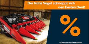 Geringhoff Aktion für Pflücker und Schneidwerke