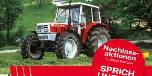 Steyr Nachlassaktionen für ältere Traktoren